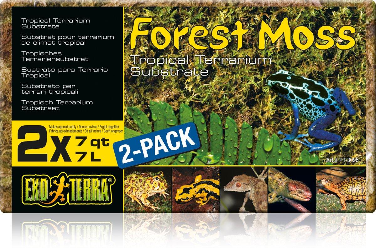 Exo Terra - Forest Moss Terrarium Substraat - Dubbelpak 500GR/7L