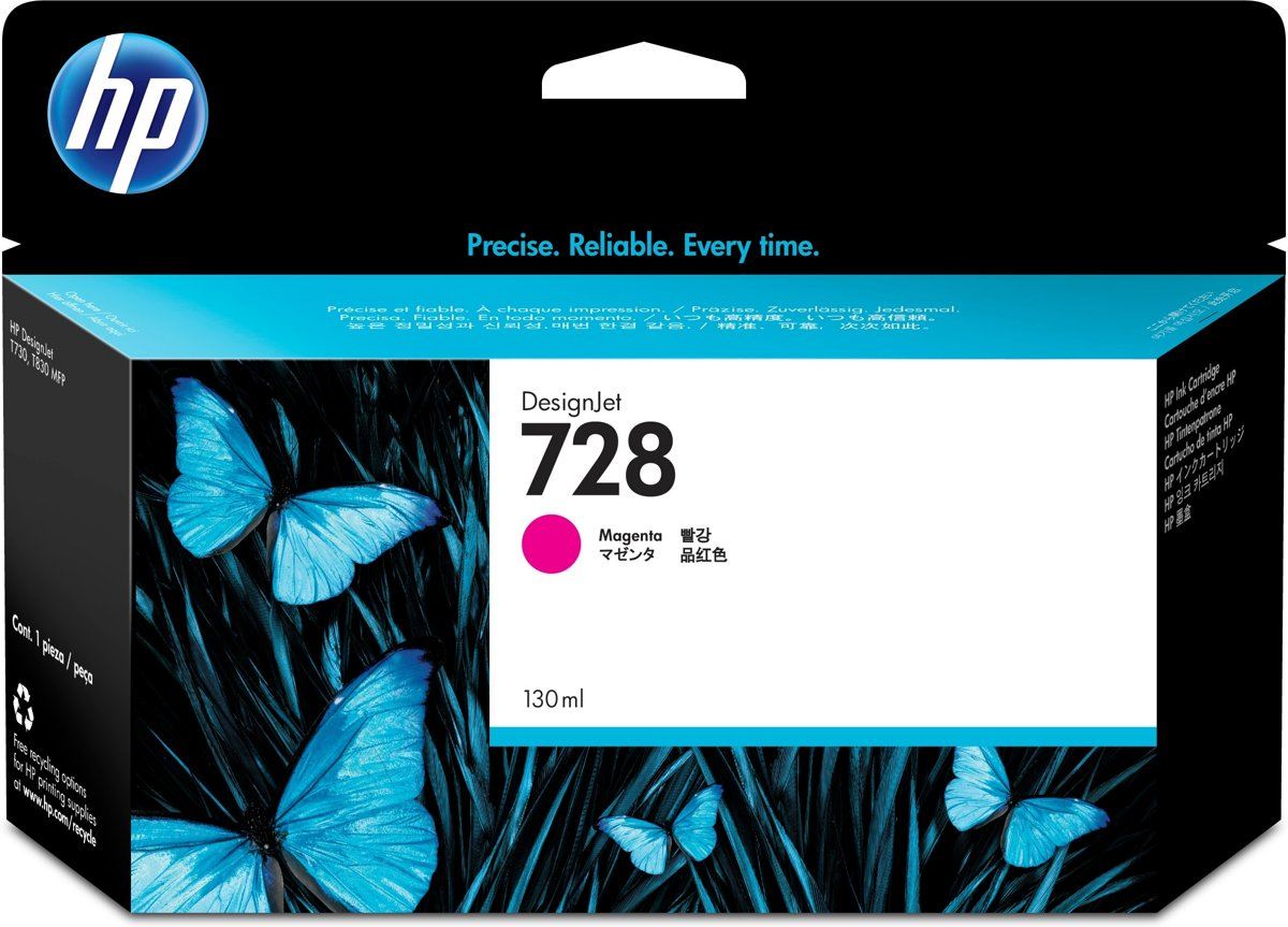 HP 728 130-ml Magenta Inkt Cartridge