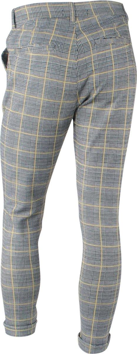f3c38c3171e Carisma - Heren Pantalon - Stretch - Wales Check - Grijs - Geel