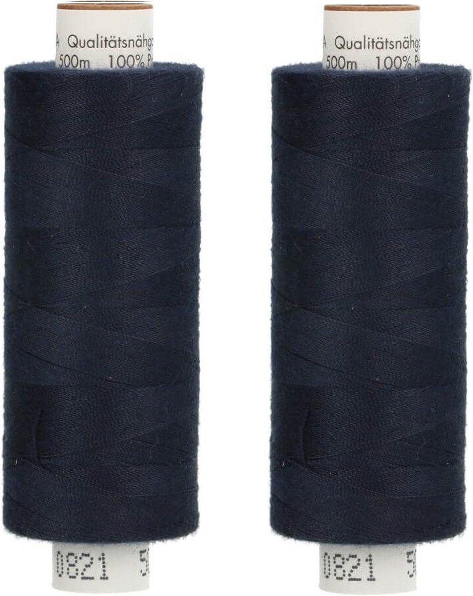 Amann Troja 2 x 500 m 0821 donkerblauw