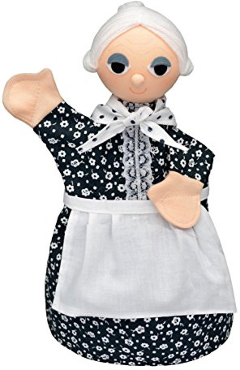 ABA Handgemaakte poppenkastpop OMA - Marionet - 30cm - handpop kopen