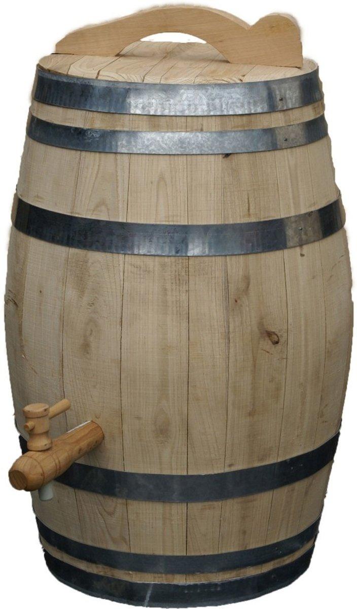 Regenton - Wijnvat - Kastanjehout - 100L kopen