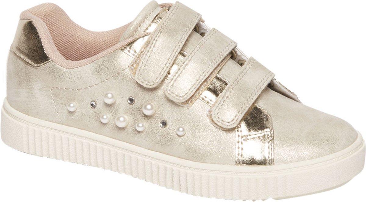 Graceland Kinderen Platina kleurige sneaker klittenbandsluiting - Maat 34 kopen