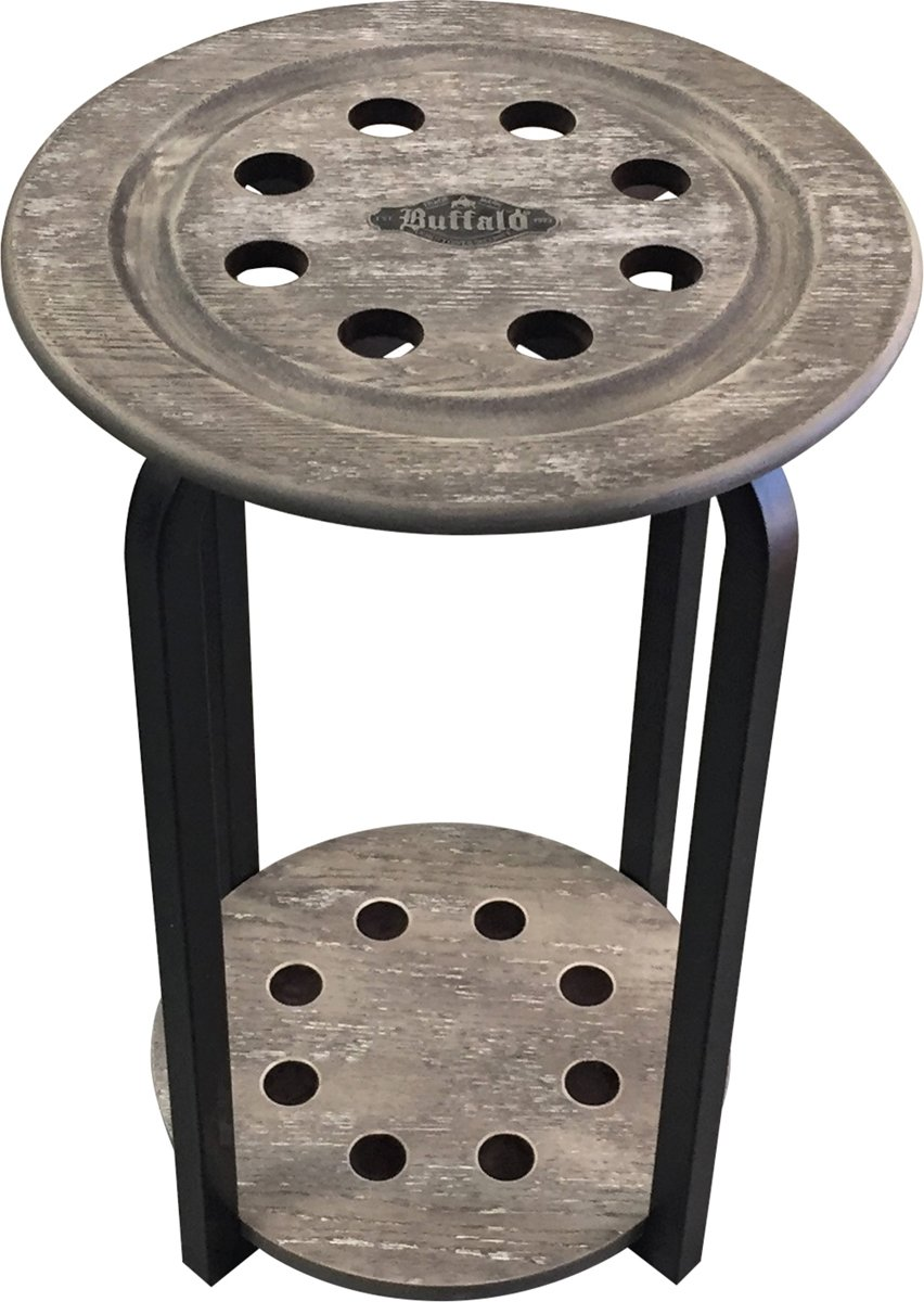 Buffalo cue stand round 8 cues grey kopen