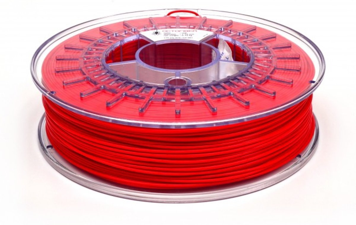 Octofiber 1.75mm Filament PLA - Rood
