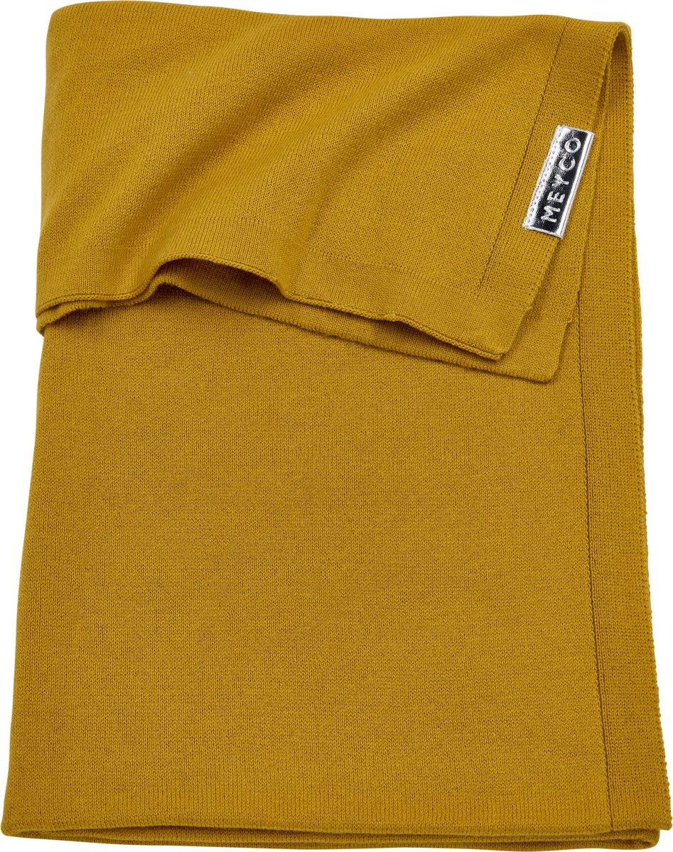Meyco Knit basic wiegdeken - 75x100 cm - okergeel