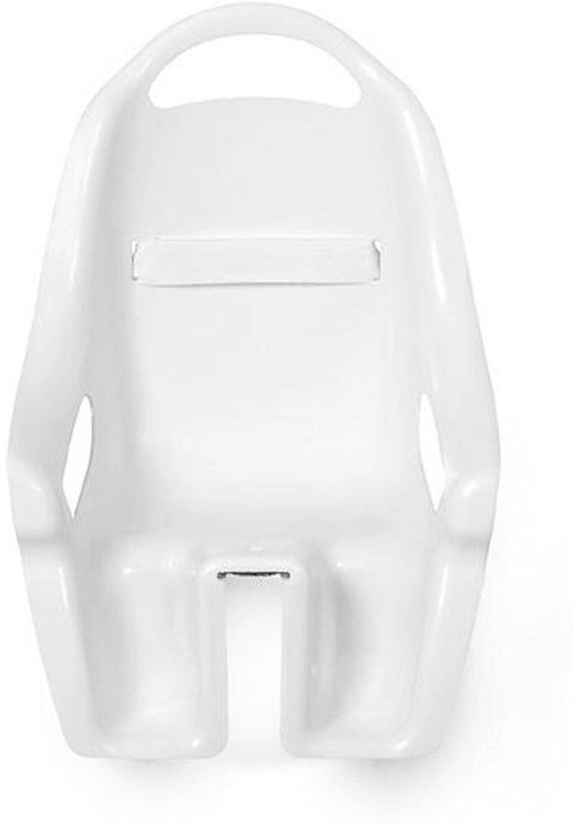 Fietszitje voor Poppen - Fietsstoeltje Wit