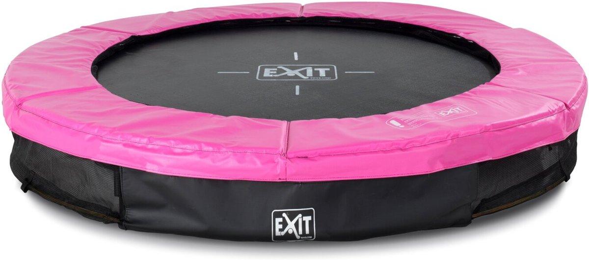 EXIT Silhouette inground trampoline ø183cm - roze