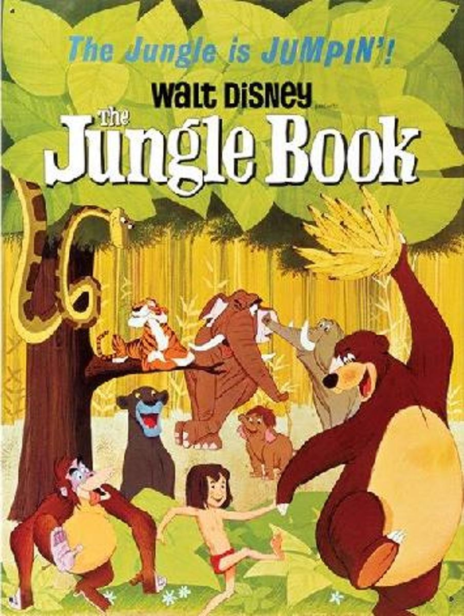 Disney The Jungle Book Classic Film Poster Large Tin Sign kopen