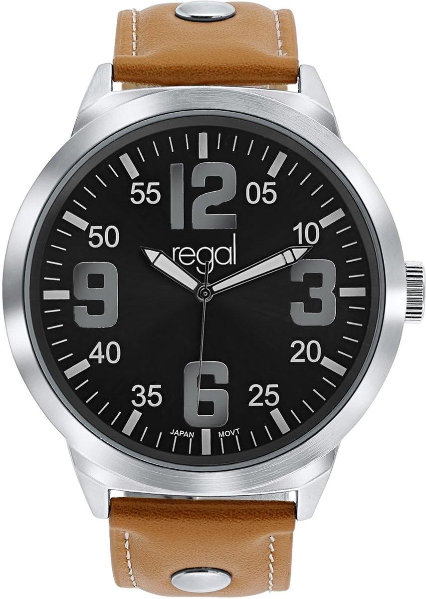 Regal - Regal horloge XL met een bruine leren band kopen