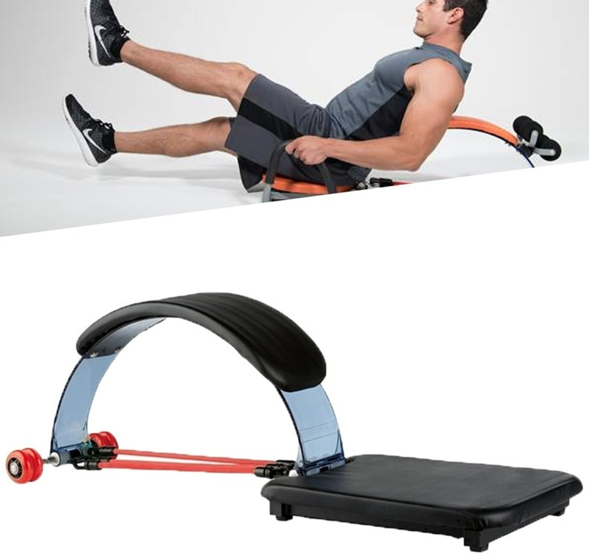 Ab Trainer Buikspierapparaat - Buikspiertrainer - Coretrainer Fitness Workout Bank - Buiktrainer kopen