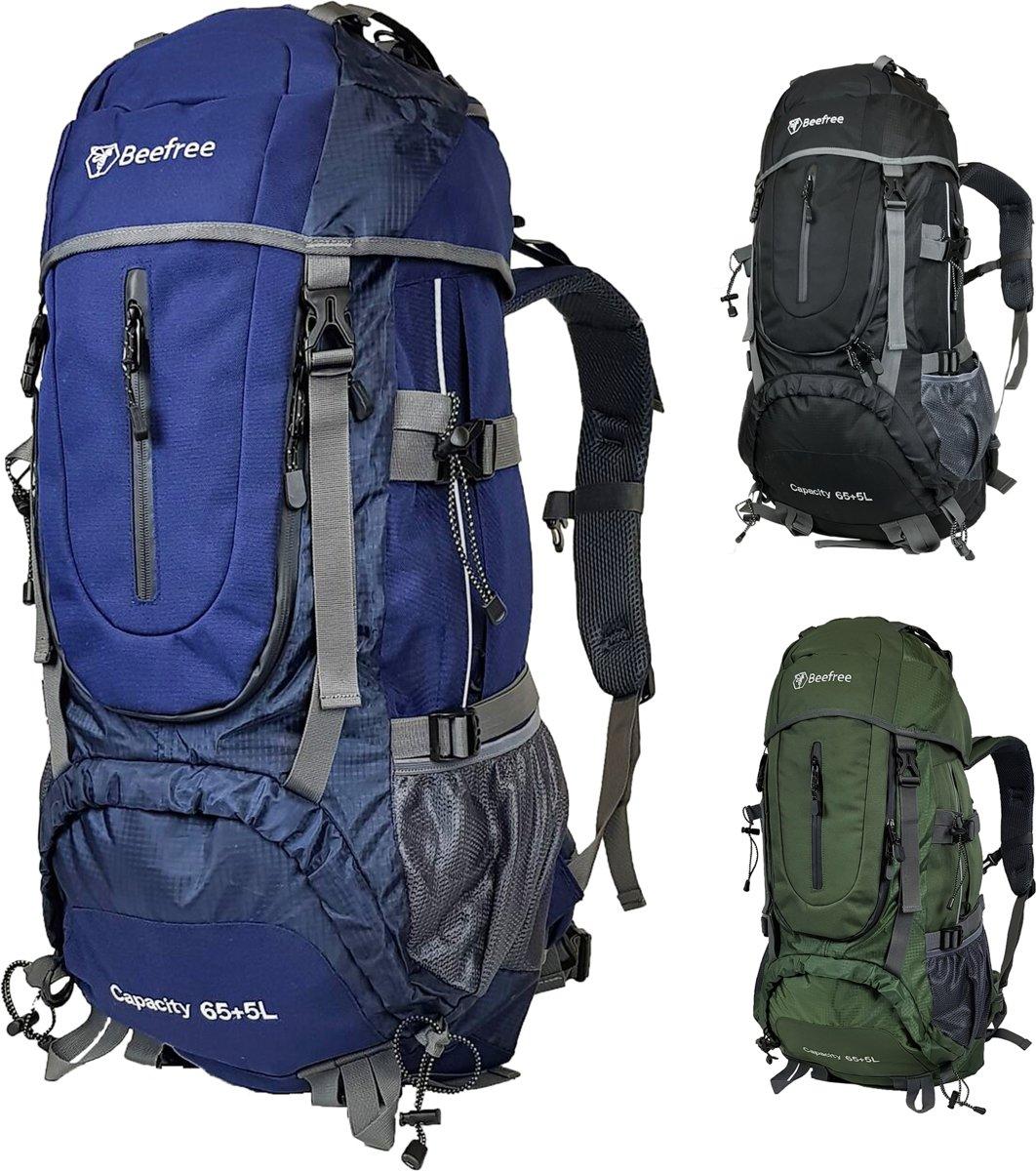 809dfa4eec4 ... Beefree 70 Liter nylon Backpack - Blauw   Inclusief regenhoes    Frontlader - Beefree ...