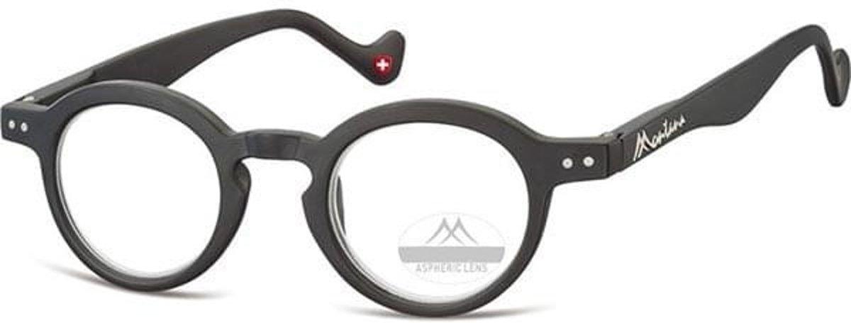 Montana Leesbril Panto Matzwart Sterkte +2,50 (box69) kopen