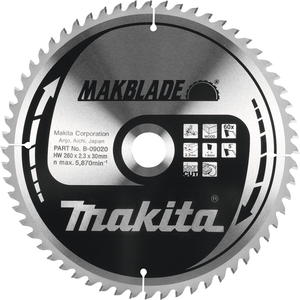 Makita B-09086 Zaagb hout 305x30x2,3 80T 5g