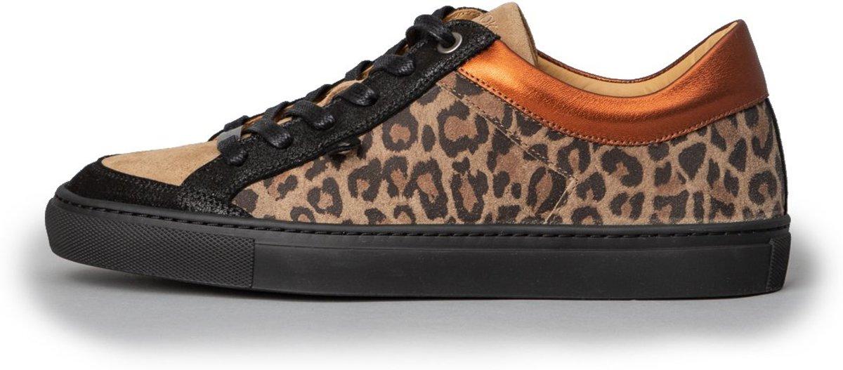 KUNOKA Alex 1.1c fierce leopard Sneakers Dames Zwart Luipaardprint
