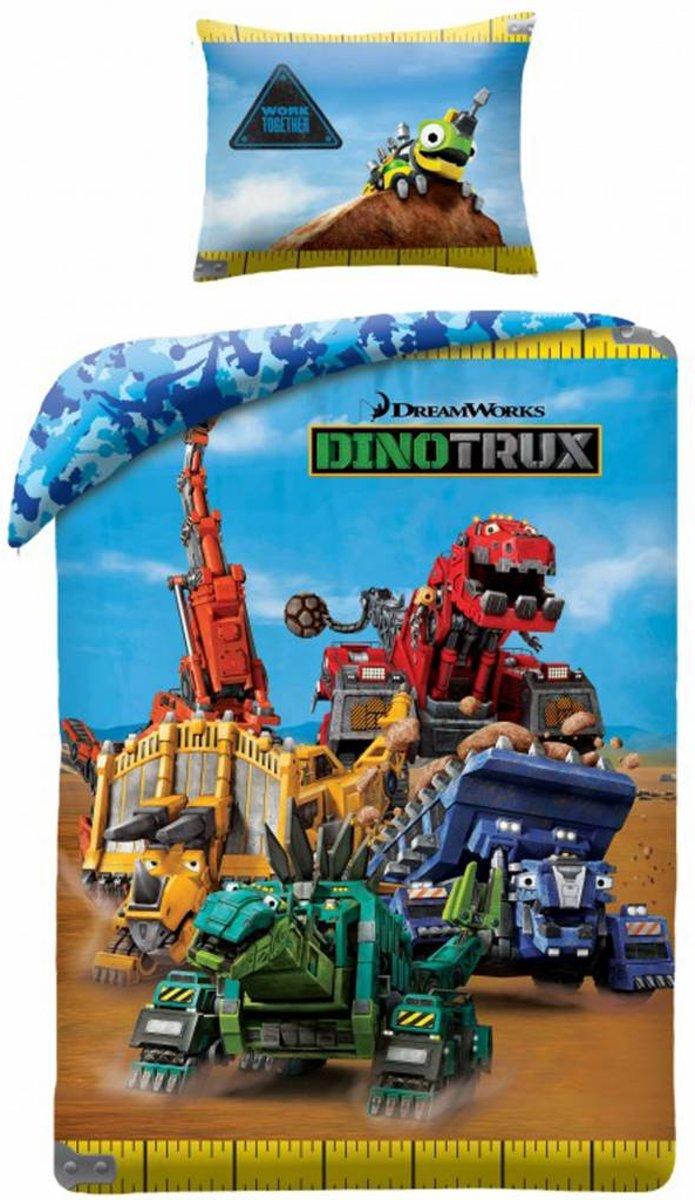 Dinotrux Ty Dekbedovertrek - Eenpersoons - 140x200 cm - Multi kopen