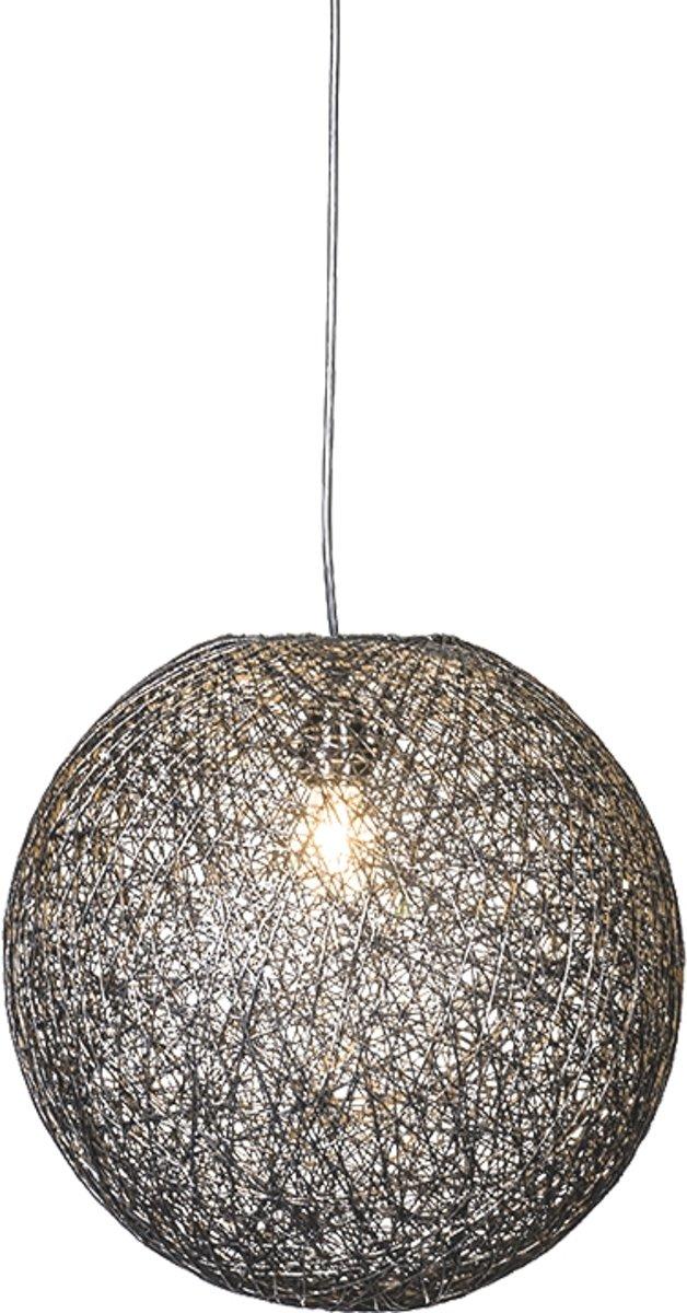 bol.com | QAZQA Corda - Hanglamp - 35 cm - zwart