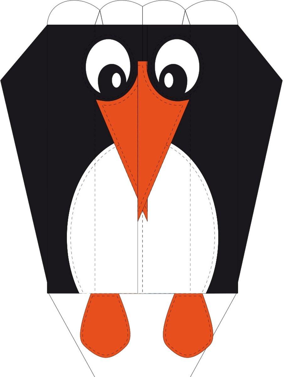 Invento Eenlijnskindervlieger Parafoil Easy Penguin 35 Cm Zwart