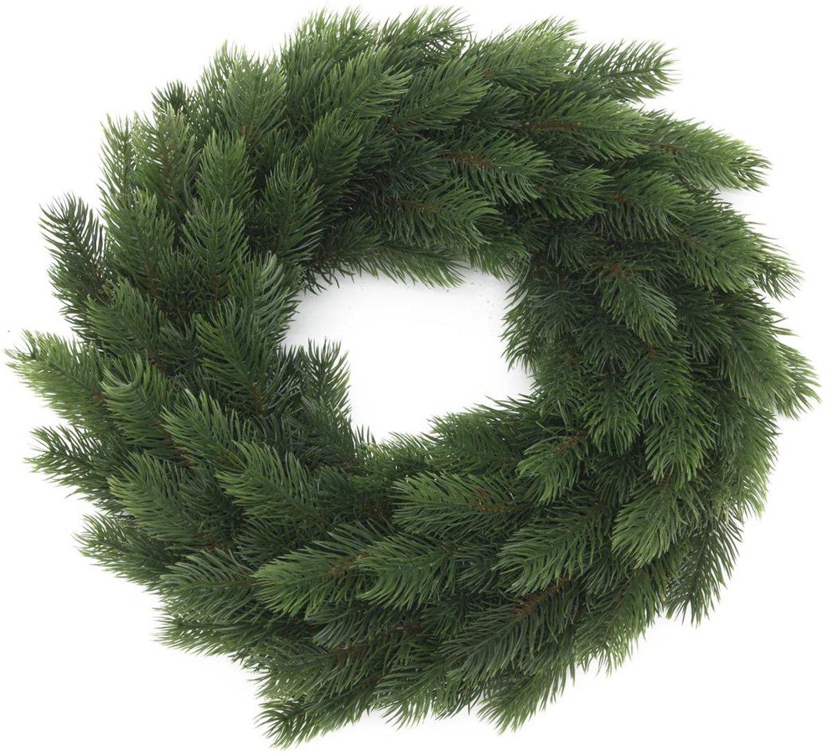 Europalms kerstKrans - kunstplant - 45cm - Groen - Kerstdecoratie kopen
