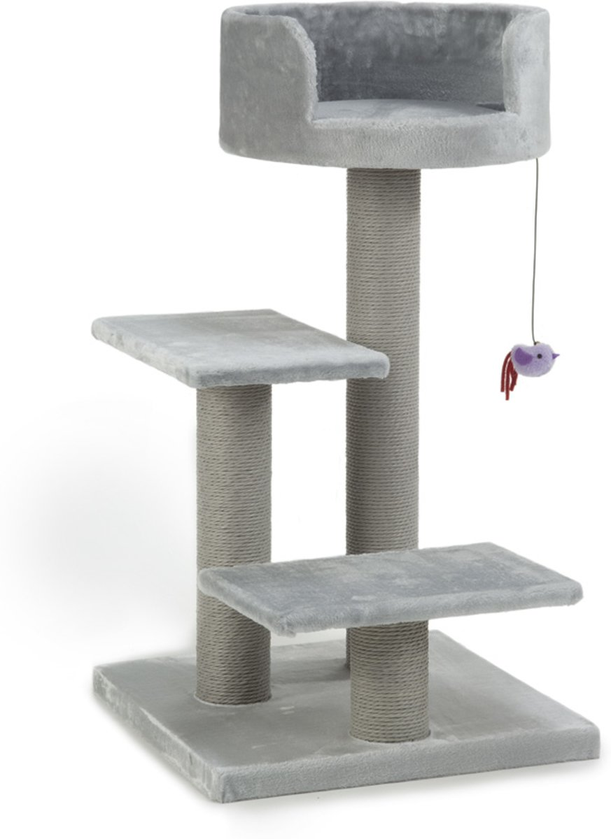 Beeztees Figo - Krabpaal - Grijs - 50x50x92 cm