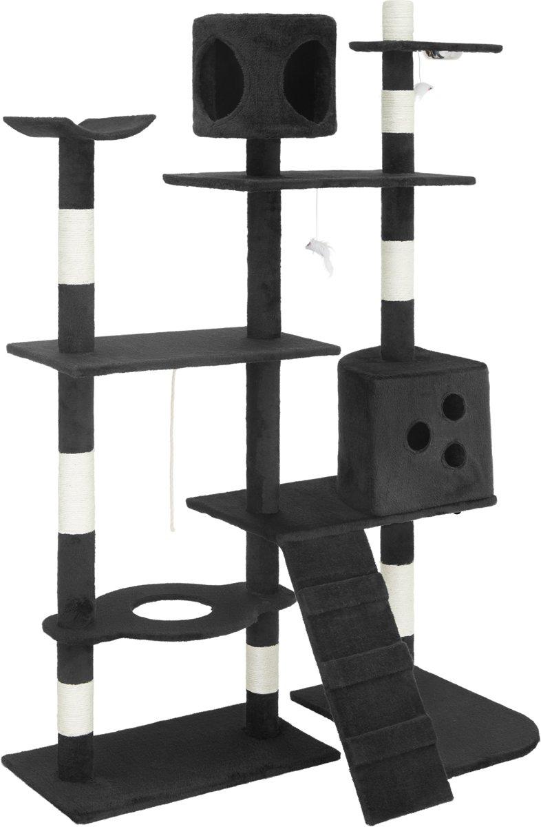 Katten krabpaal Deluxe 167cm hoog , zwart 401800