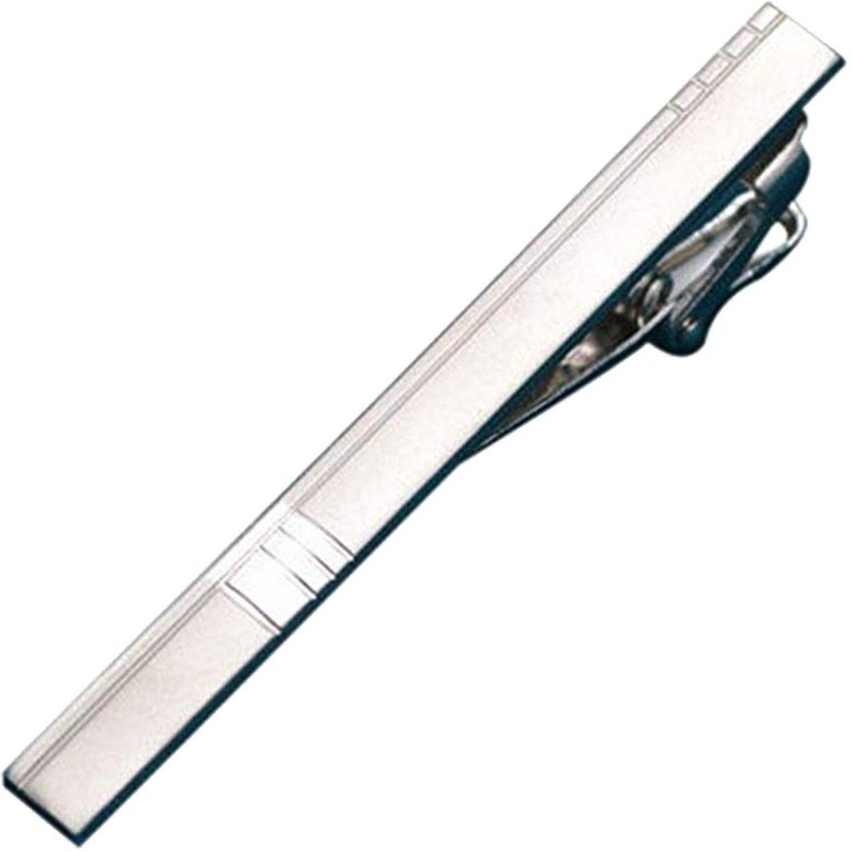 Fako Bijoux® - Dasspeld - Deluxe - Model Frederik - 60mm - Zilverkleurig kopen