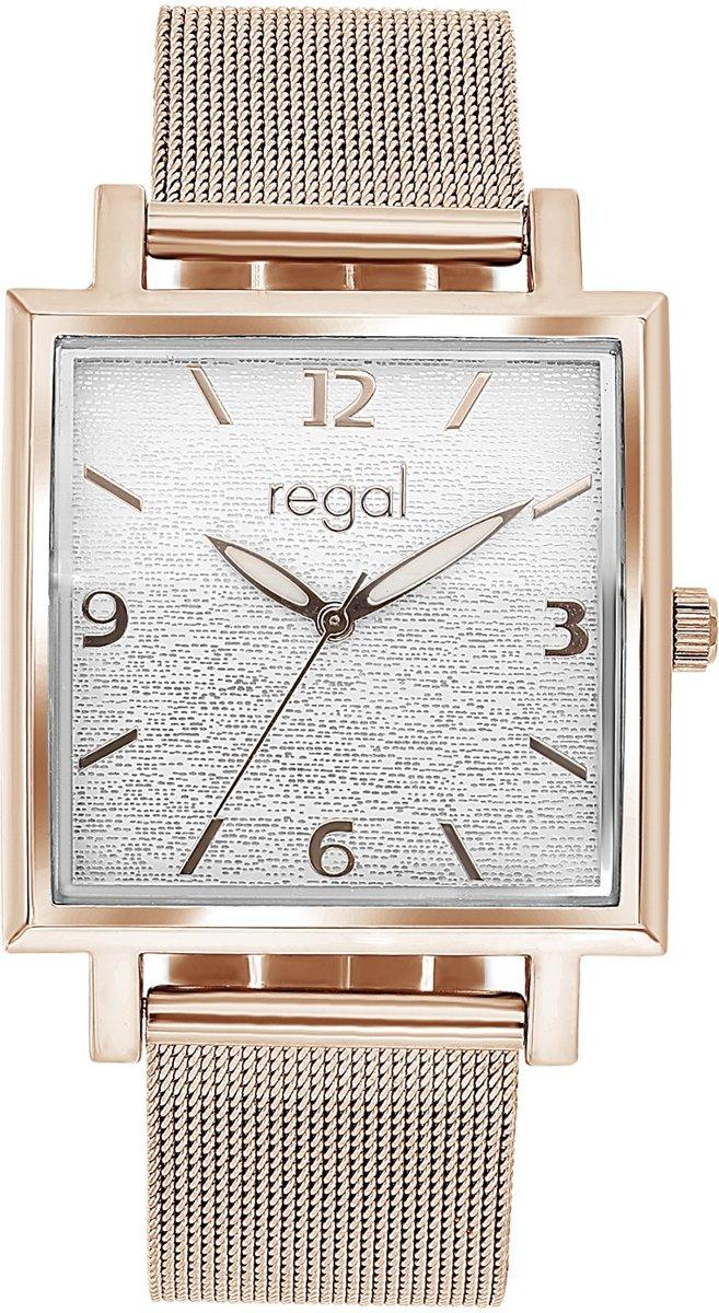 Regal - Regal horloge met rosekleurige mesh band kopen