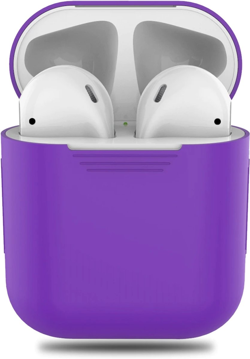 Airpods Silicone Case Cover Hoesje voor Apple Airpods - Paars kopen