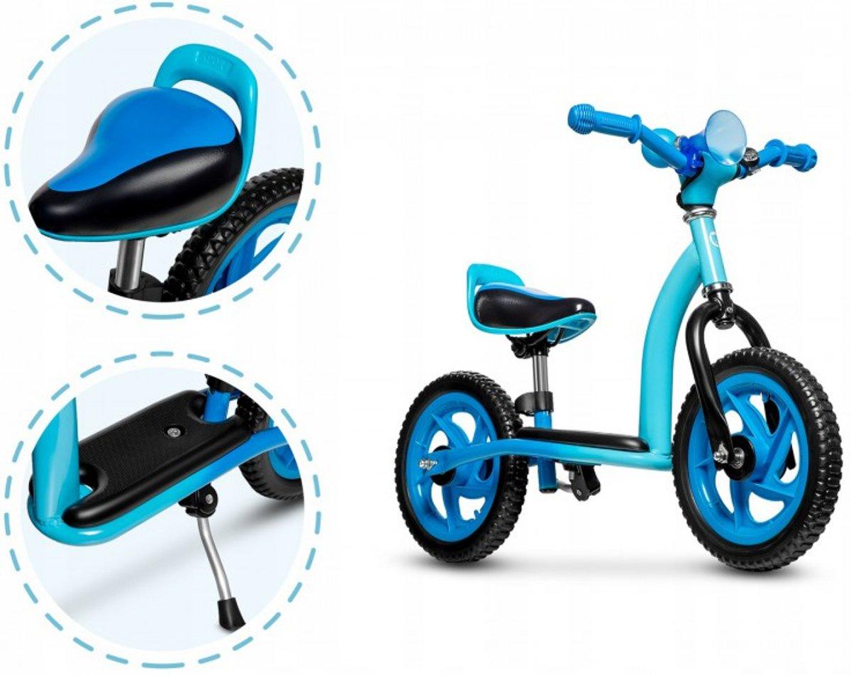 Lionelo Roy -2 in 1 loopfiets balancebike & Step in leuk design inclusief helm -blauw