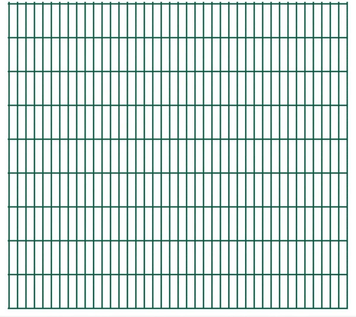 Dubbelstaafmatten 2008 x 1830mm 16m Groen 8 stuks (incl. tyraps)