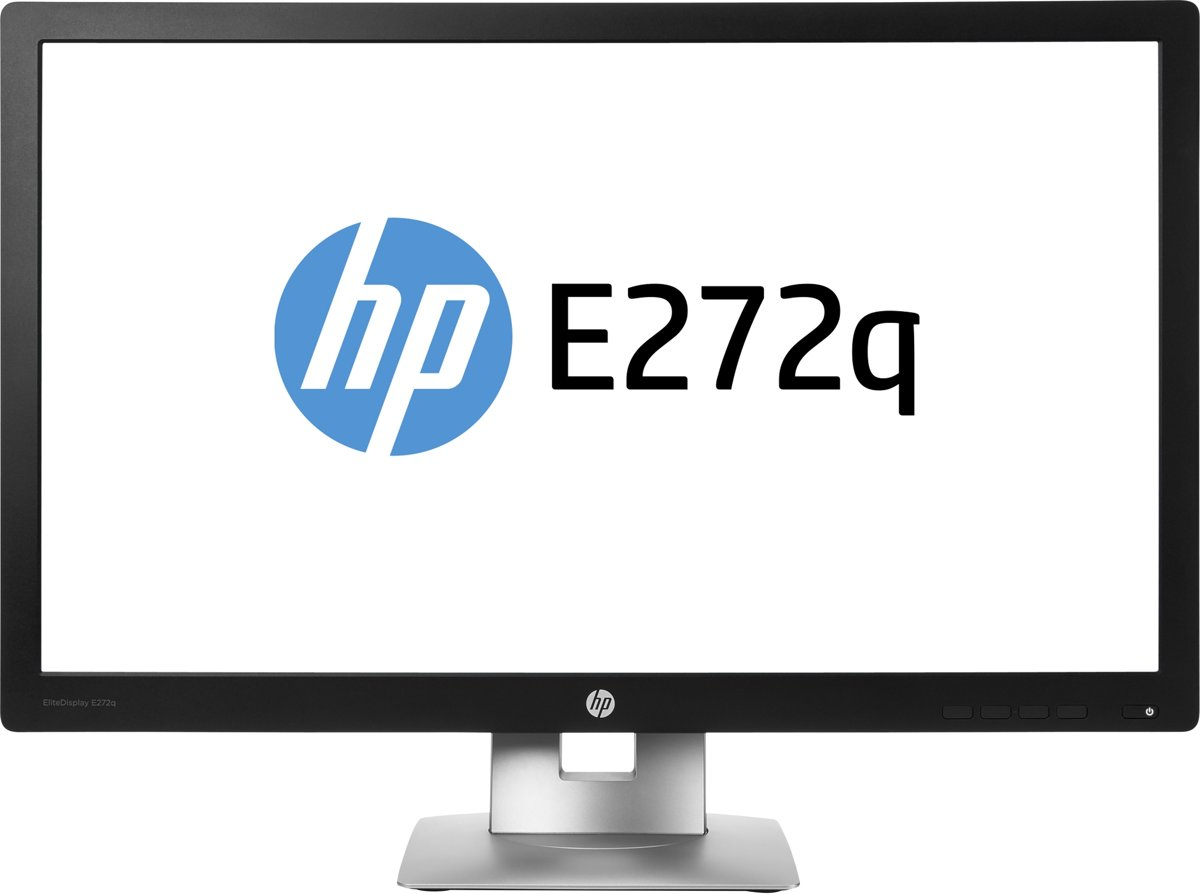 HP EliteDisplay E272q 27'' Wide Quad HD LED Mat Zwart, Zilver computer monitor