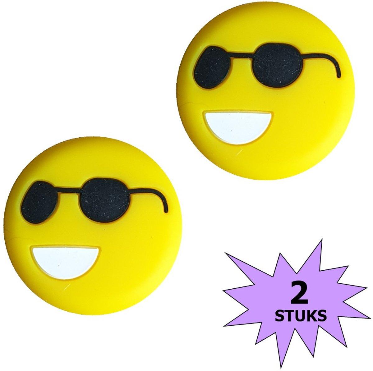 Fako Bijoux® - Tennisdemper - Emoji - Cool - 2 Stuks kopen