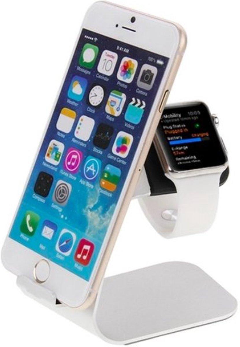 Docking Station Standaard Houder geschikt voor Apple Watch – Zilver kopen