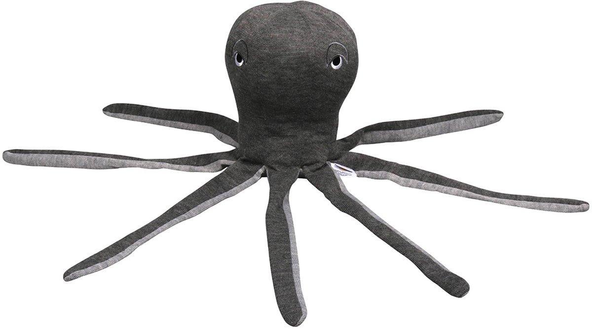 Filibabba - Knuffelspeelgoed - Squid dark grey - 30cm