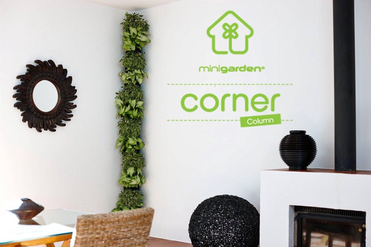 Minigarden® Corner Column starterskit verticale tuin - ZWART (8 opbouw-modules)