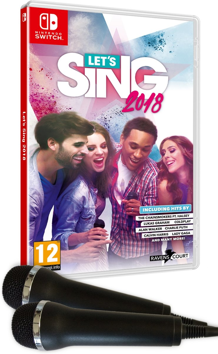 Let's Sing 2018 + 2 Microphones Switch