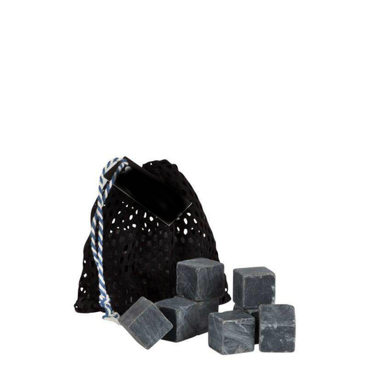 Whiskey stones zwart marmer 12 stuks kopen