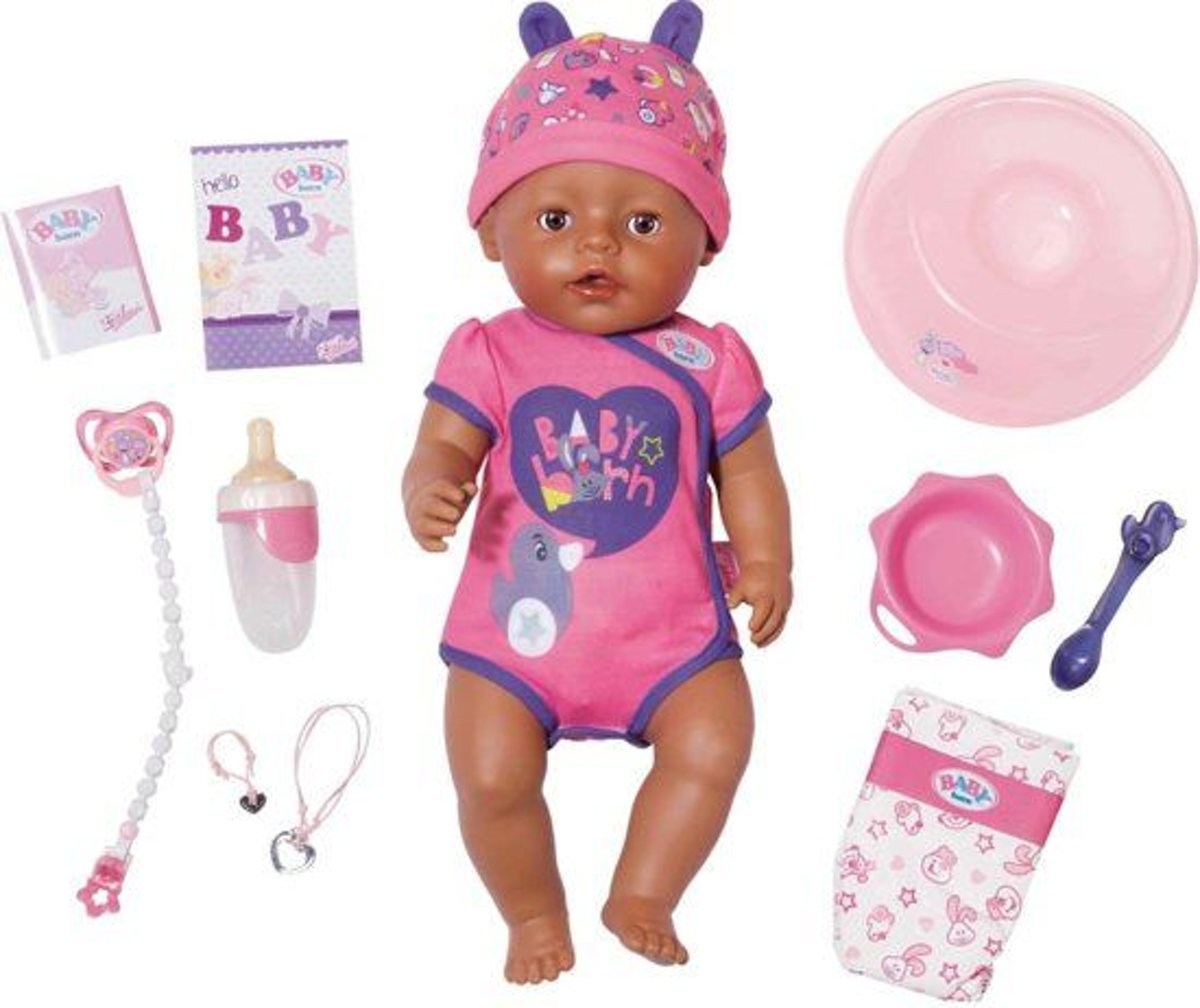 BABY born babypop Soft Touch 43 cm roze/paars 8 delig
