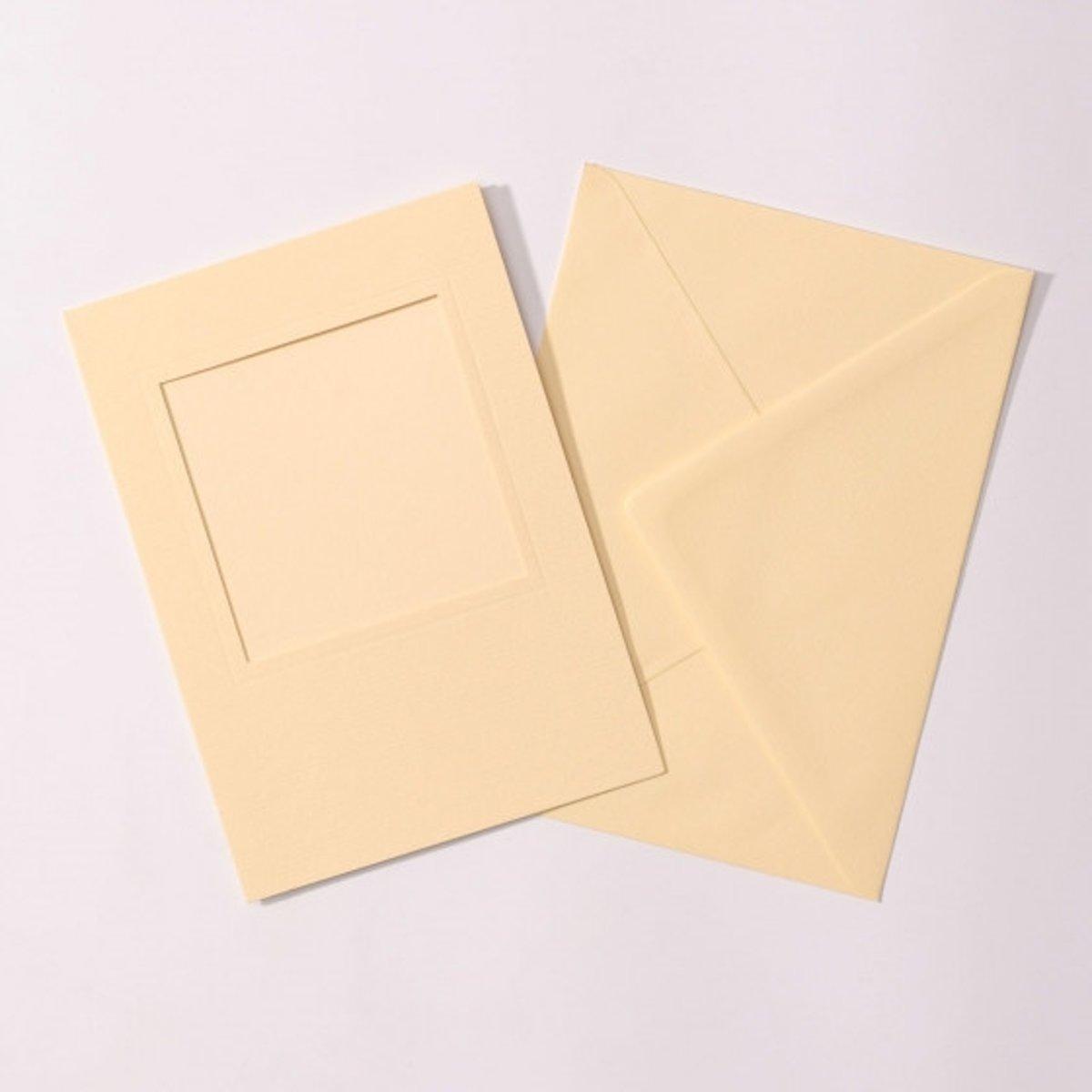 Afbeelding van product Passep. vierkant 5 st. creme