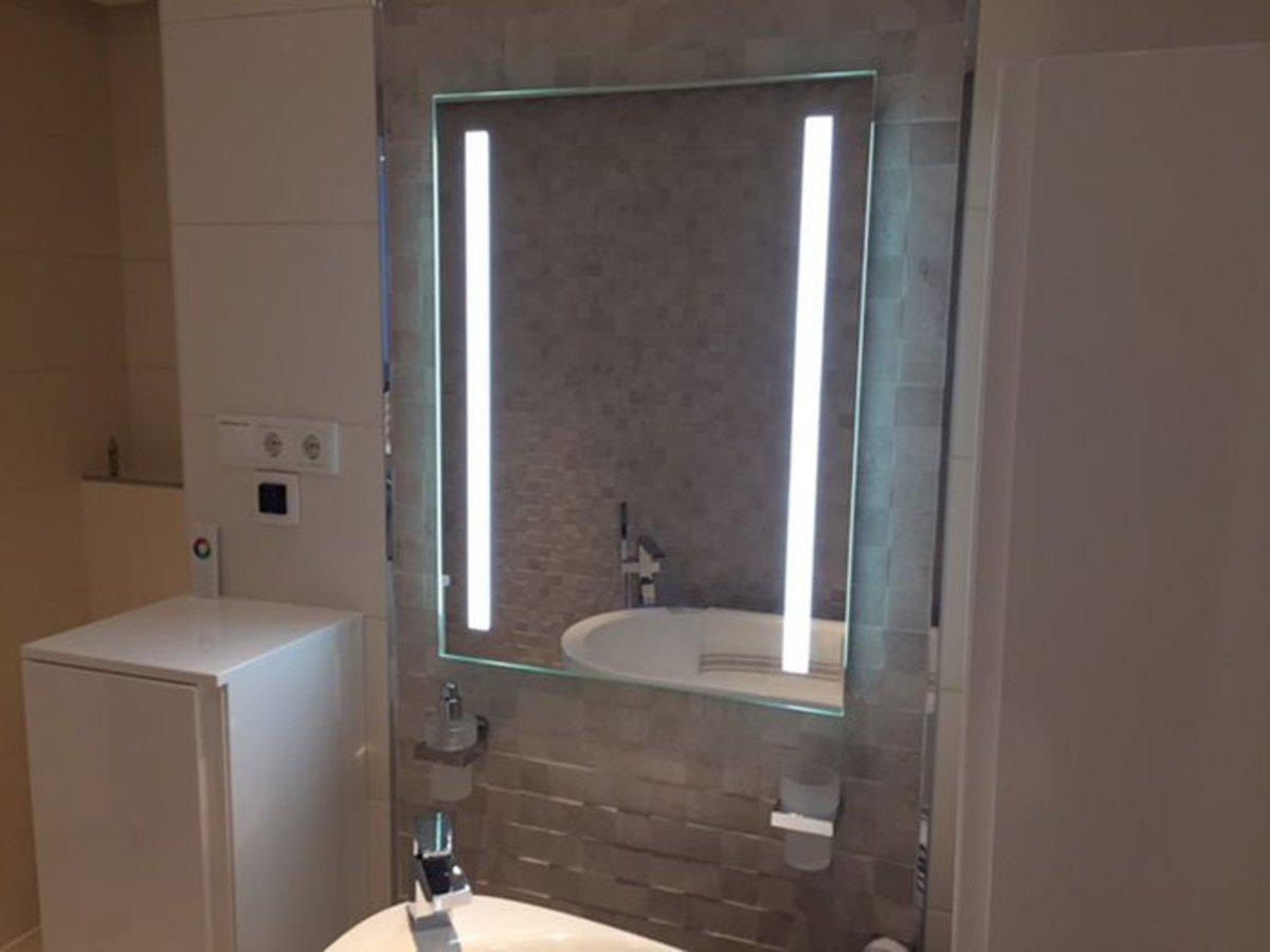 Verwarmde Badkamer Spiegel : Bol verwarmde badkamer led spiegel met sensor cm