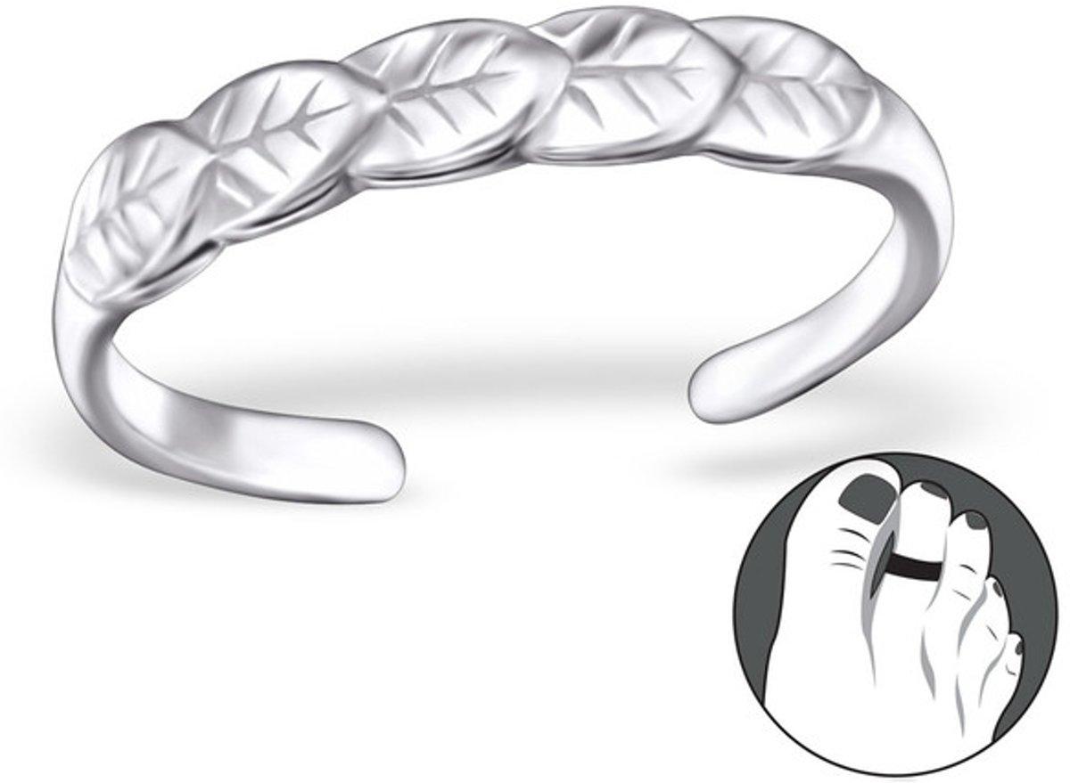 Silver Leaves Toe Ring Adjustable | 925 Sterling Silver kopen