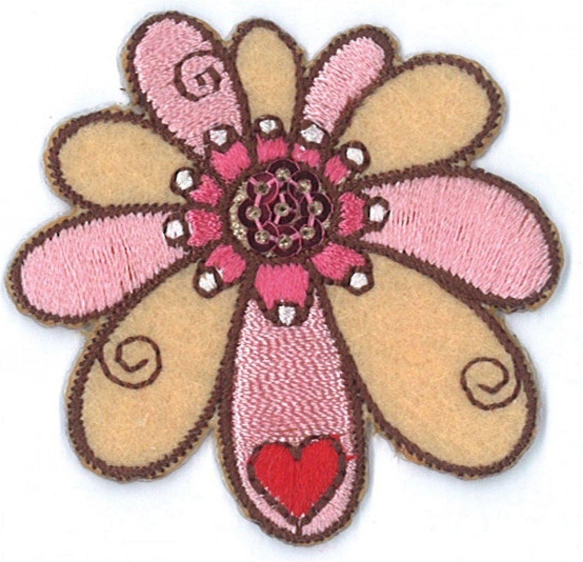 Afbeelding van product Iron on badges flower