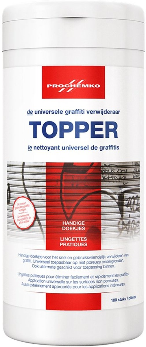 Prochemko Graffiti verwijderaar Topper doekjes (100st)