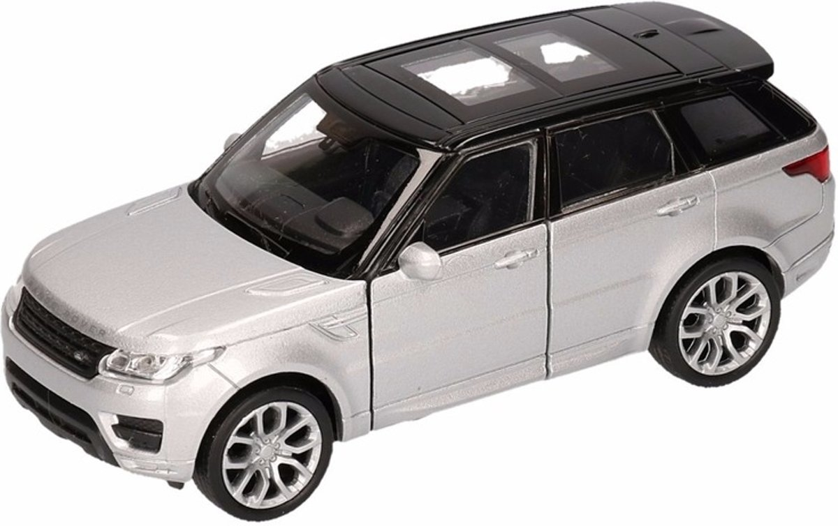 Bol Com Speelgoed Zilveren Range Rover Sport Auto 1 36 Modelauto