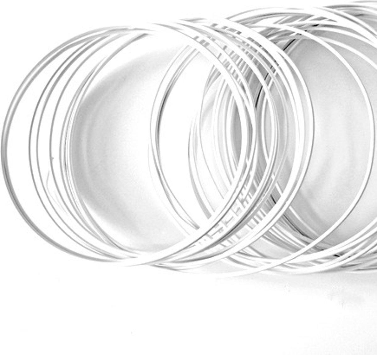 Wit ijzerdraad 2 mm-12 meter lang-100gr. kopen