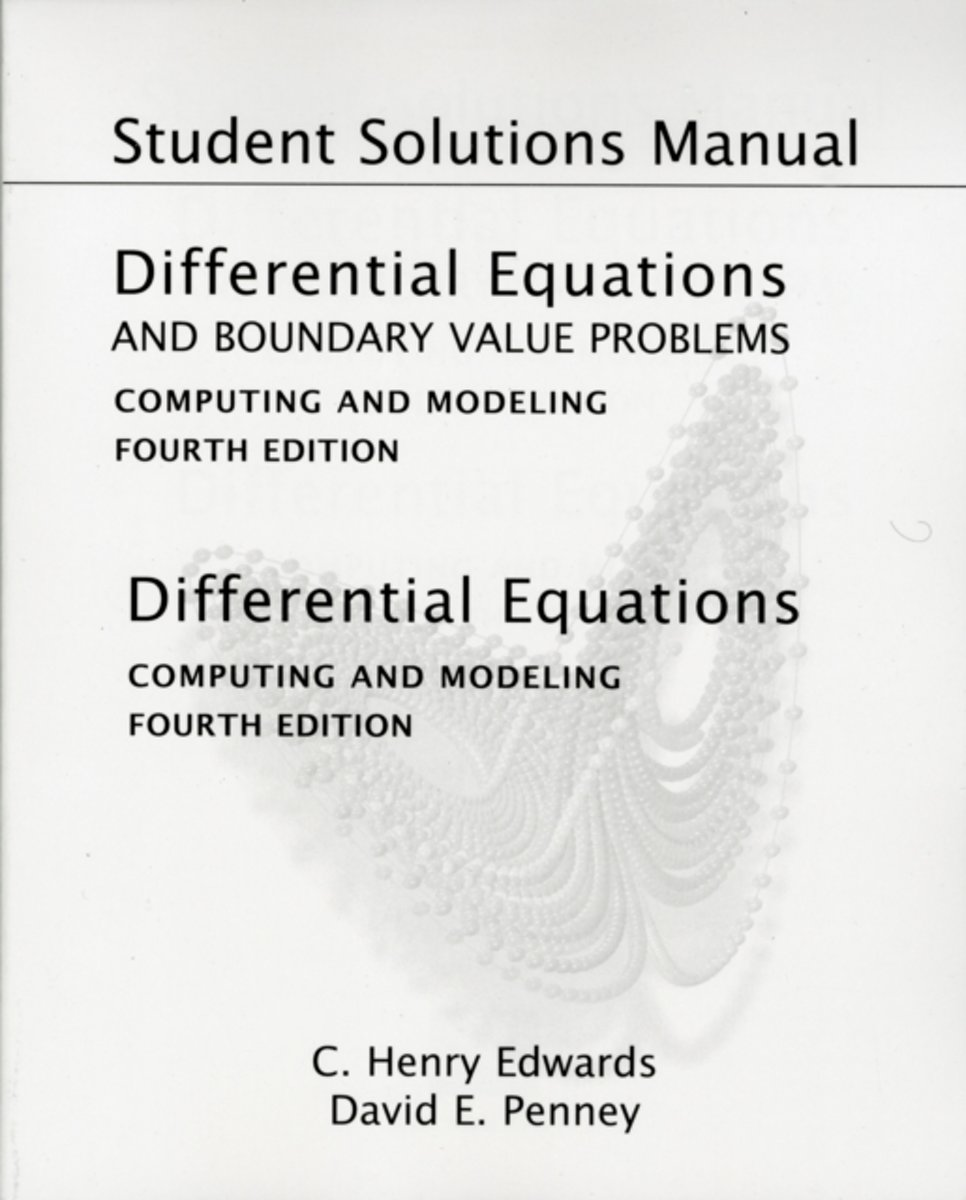 bol.com | Student Solutions Manual for Differential Equations and Boundary  Value Problems |.