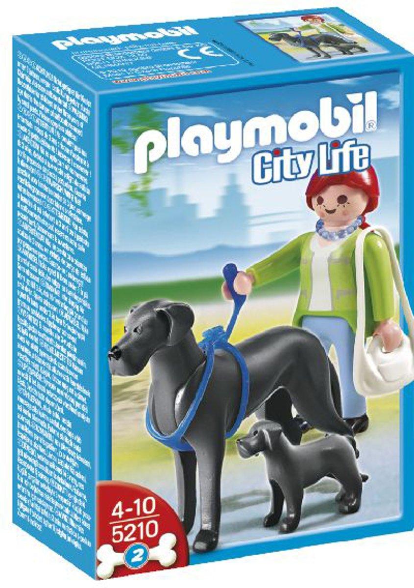 Playmobil Duitse Dog met Puppy ? 15cm | Speelgoedhondjes voor de Playmobil Wereld | Uitbereidingsset