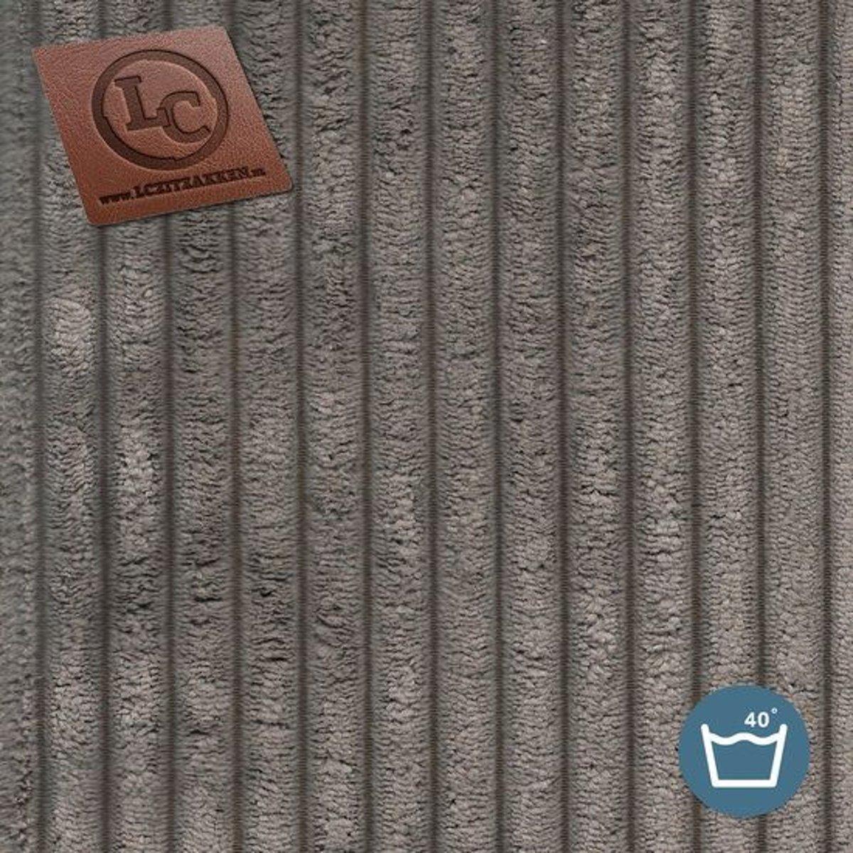 LC Zitzak hoes Ibiza M ribcord taupe - Wasbaar - Zacht en comfortabel kopen