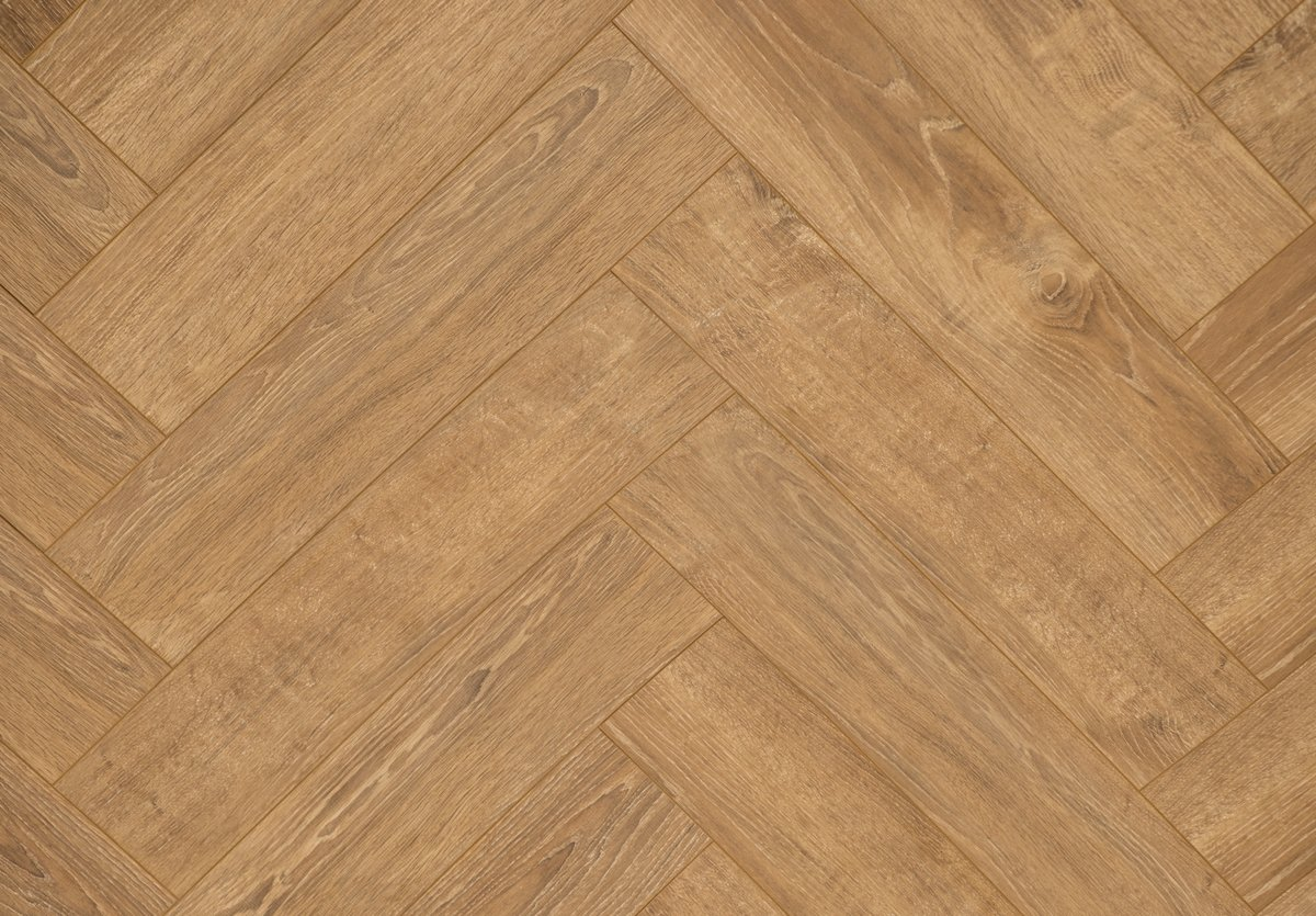 Floer Visgraat Laminaat Vloer - Gerookt Eiken 64 x 14,3 x 1,2 cm kopen