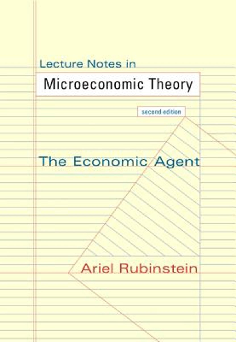bol.com | Lecture Notes in Microeconomic Theory | 9780691154138 | Ariel  Rubinstein | Boeken